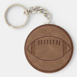 Football Basic Round Button Keychain