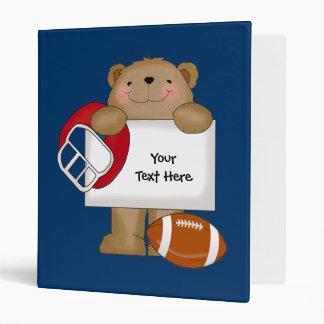 Football Bear Bulletin (customizable) Binder
