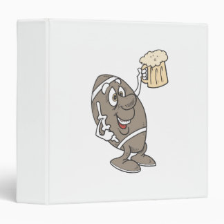 Football Beer 3 Ring Binder
