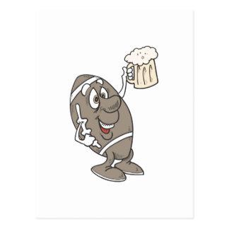 Football Beer Postcard