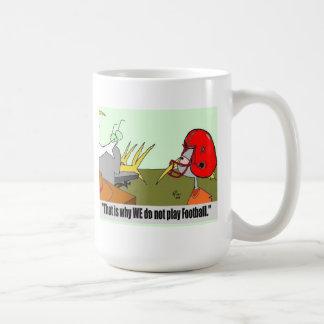 Football Birds Beaks Helmets Cartoon ric leonard Coffee Mug