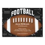 "Football Birthday 5"" X 7"" Invitation Card"