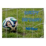 Hand shaped Football birthday card