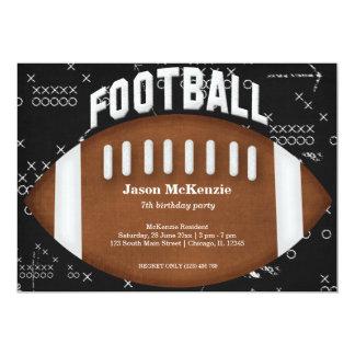 Football Birthday 5x7 Paper Invitation Card