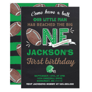 Football Birthday Invitations Announcements Zazzle