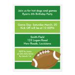 Football Birthday Party Custom Announcements