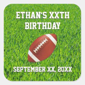 Football Birthday Party Custom Square Sticker