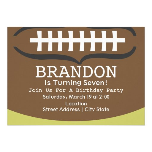 Football Birthday Party Invitations for your inspiration to make invitation template look beautiful