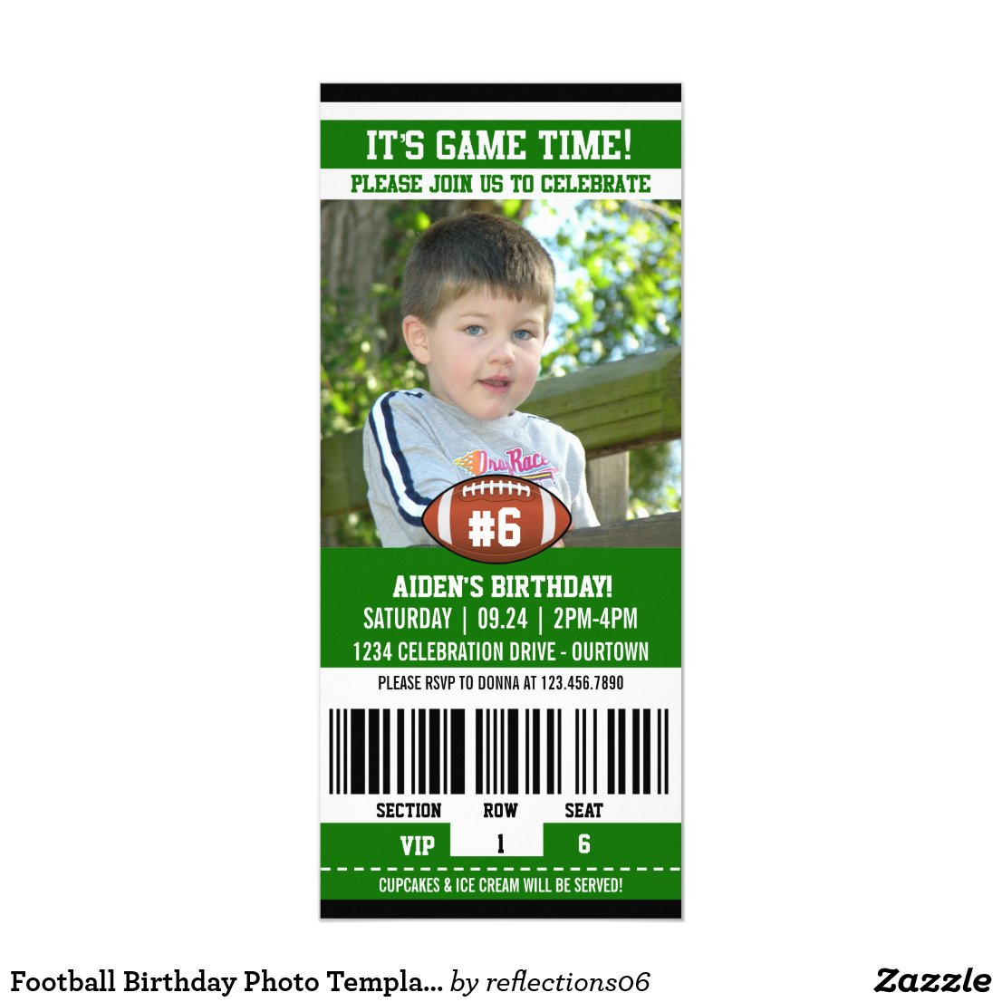 Football Birthday Photo Template