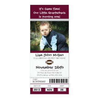 Football Birthday Ticket Custom Announcements