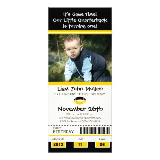 Football Birthday Ticket Personalized Invites