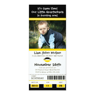 Football Birthday Ticket Personalized Invites