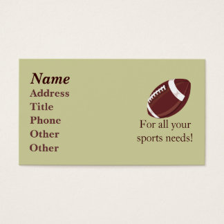 Football Biz Card