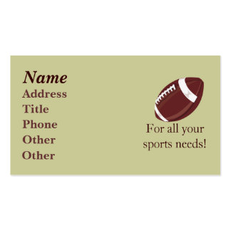 Football Biz Card Business Card