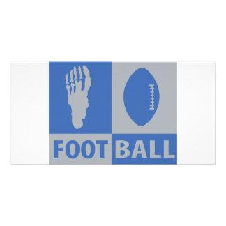 football bizarre icon personalized photo card