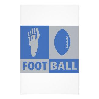 football bizarre icon stationery paper