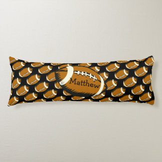 Football Black and Brown Sports Body Pillow