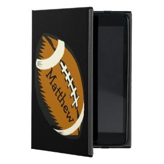 Football Black and Brown Sports iPad Mini Case