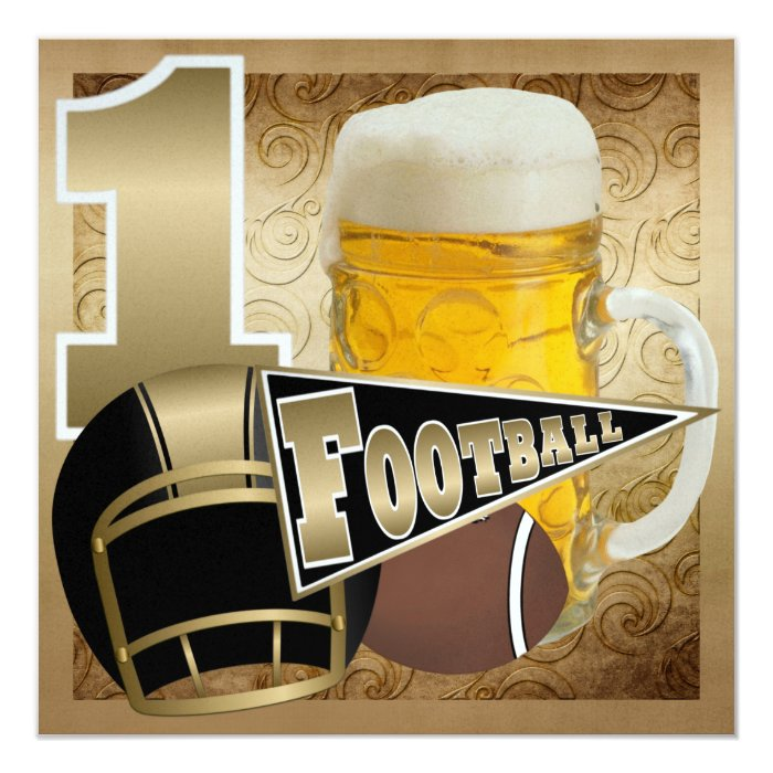 Football Black and Gold - SRF Card