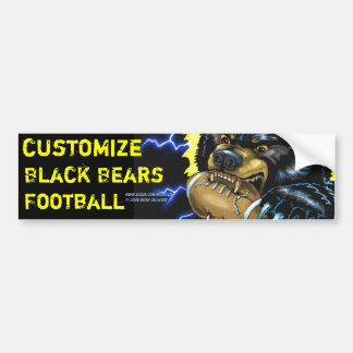 Football Black Bear Bumper Sticker Car Bumper Sticker