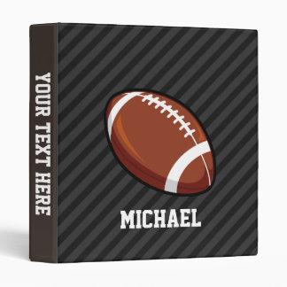 Football; Black & Dark Gray Stripes Binder