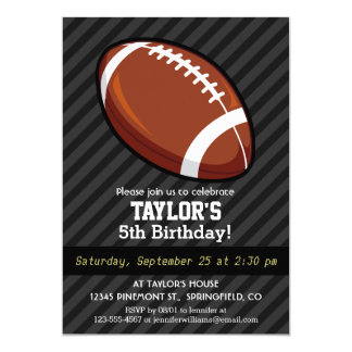 Football; Black & Dark Gray Stripes Card