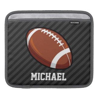 Football; Black & Dark Gray Stripes Sleeve For iPads