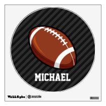 Football; Black & Dark Gray Stripes Wall Decal