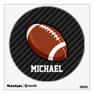 Football; Black & Dark Gray Stripes Room Sticker