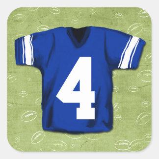 Football Blitz Kids' Jersey Number Square Sticker