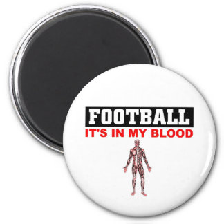 Football Blood 2 Inch Round Magnet