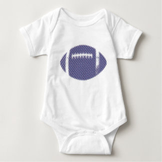 Football Blue and Red Baby Bodysuit
