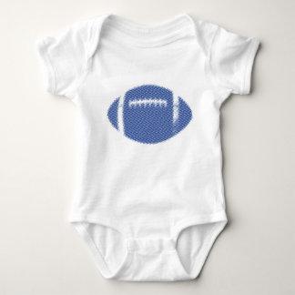 Football Blue Baby Bodysuit