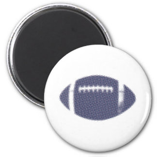 Football Blue Red Silver Magnet