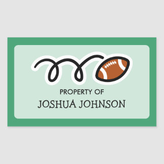 Football book label stickers | School supplies