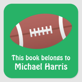 Football bookplate book label / tag for children