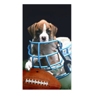 Football boxer puppy business card
