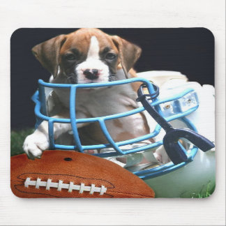 Football Boxer puppy mousepad