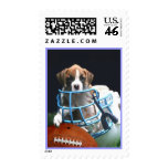 Football Boxer puppy Stamp