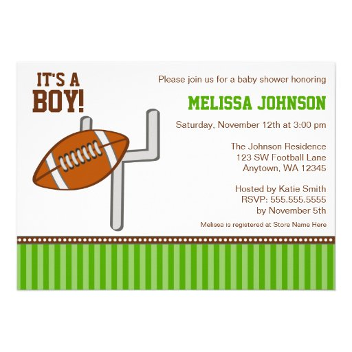 football boy baby shower invitations 5 x 7 invitation card zazzle