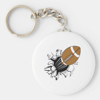 Football Breaking Out Keychain