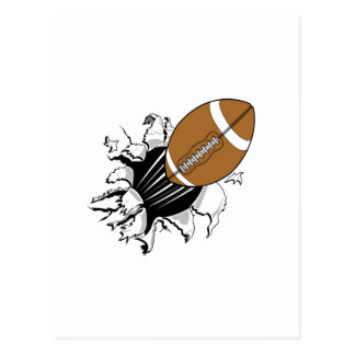 Football Breaking Out Postcard