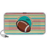 Football; Bright Rainbow Stripes iPhone Speakers