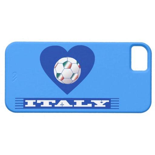 FOOTBALL Bufanda ITALY y balón fútbol en corazón iPhone 5 Protectores