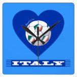 FOOTBALL Bufanda ITALY y balón fútbol en corazón Reloj