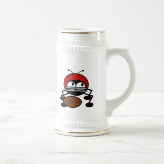 Football Bug T-shirts and Gifts Beer Stein