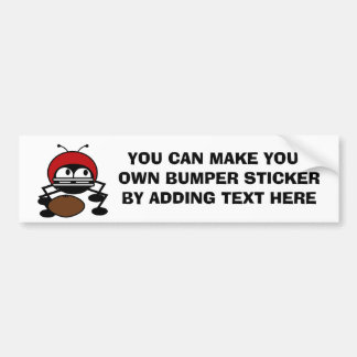 Football Bug T-shirts and Gifts Bumper Sticker