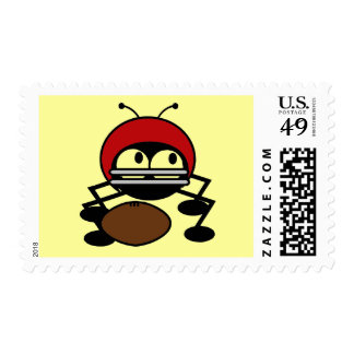 Football Bug Tshirts and Gifts Postage Stamp