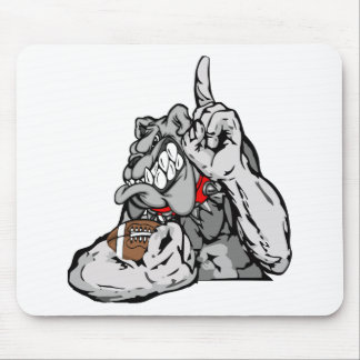 football bulldog mouse pad