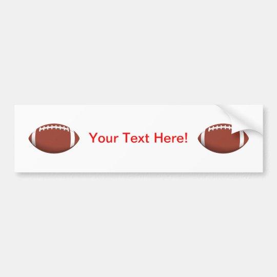 Football! Bumper Sticker